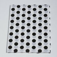 "Tissue Paper Black Dot 20"" x 30"" 240 Sheets 1 Ream Quality Premium Wraping"