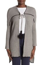 NEW UGG Riley Sweater Long Tassel Cardigan Poncho Cotton Cashmere Wool Med Large