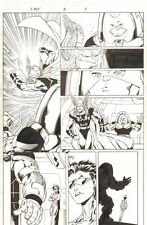 Avengers Next #3 p.4 - Thena and J2 - 2007 Signed art by Ron Lim