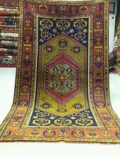 "Exquiste Antique 3'4""×5'11""Natural Colors Wool Pile Tribal Area Rug"