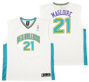Reebok NBA Men's New Orleans Hornets Jamaal Magloire #21 Player Jersey