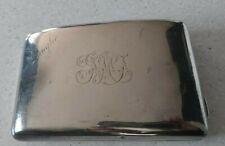 Large Victorian Solid Sterling Silver Cigarette Case 1899