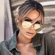 NEW QUAY X Desi Perkins High Key Green/Gold Mirror  Sunglasses