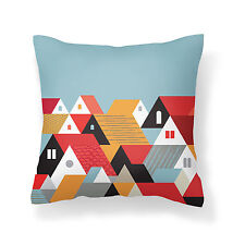 Sweedish Blue designer cushion cover 18x18 inches, Poplin with consealed zipper