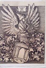 Albrecht Durer 10x13.6 woodcut Coat of arms Durer Durer Society