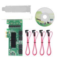 8 puertos SATA III PCI Express Tarjeta Controladora Pci-e A Adaptador Convertidor de SATA 3.0