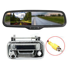 """Car Chrome Handle Backup Camera & Rear View Monitor 4.3"""" For Ford F150 2004-2014"""