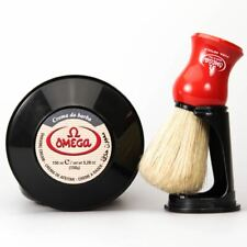 Omega Shaving Cream and Brush Set - Made in Italy