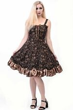Phaze Steampunk Clock Lolita Dress~Brown~Size 14