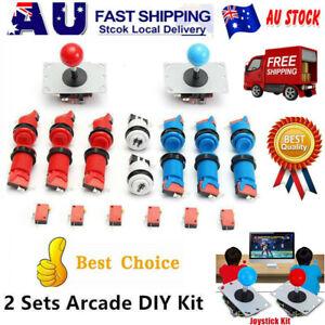 Arcade DIY Game Set Kit 2Player Joystick+12Happ Push+20Microswitch+2Start Button