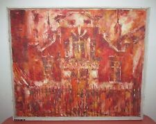 Vtg Jack Paul Maroon 1919-2008 Oil Painting NYC Abstract Expressionism Listed