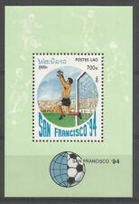 Laos 1992 BL 120 ** Football Coupe du monde San Francisco 94