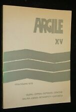 Argile XV. Printemps 1978