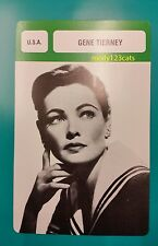 American Film and Stage Actress Gene Tierney French Trade Card