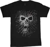 Big man shirt spider web skull tee men's plus size big and tall 5X 6X 7X 10X