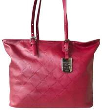 LONGCHAMP - LM CUIR - Tote Style Handbag Purse - RASPBERRY Leather