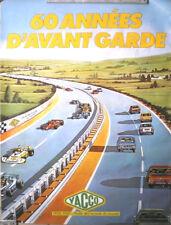 AFFICHE PUB ANCIENNE HUILE YACCO 1920 - 1980 60 ANS D'AVANT GARDE (1)