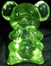 Green Vaseline glass Willie Mouse Rat animal uranium cartoon paperweight hamster
