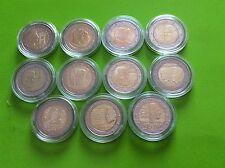 Lot 11 pièces commémoratives de 2 € Luxembourg 2004/5/6/7/8/9/10/11/12/13/14