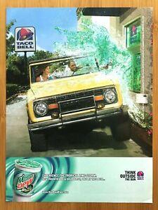 2004 Taco Bell & Mountain Dew Baja Blast Print Ad/Poster Fast Food DriveThru Art