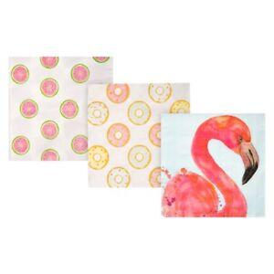 Paper Napkins Birthday Party Flamingo Donut Watermelon (Tableware & Decorations)