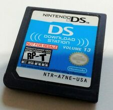 Nintendo DS Download Station Volume 13 Demo Cart Not For Resale NFR