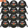 12-Pack Pig Hog 3-Pin 25 ft DMX Cables Shielded Stage Lighting Data Cable