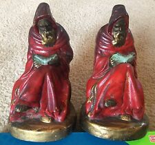 Antique ARMOR BRONZE Co Monk Bookends ART DECO Vintage - OLD