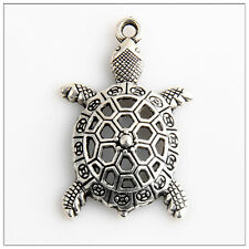 12 Sea Turtle Tibetan Silver Charms Pendants Jewelry Making Findings 19E5C4F