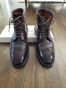 Alden Leathersoul Wingtip Boot Color 8 Shell Cordovan Plaza Last 10D Leather Sol