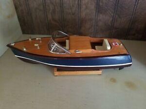 Vintage Wood Model Speedboat