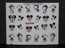Cartoon Nail Stickers Disney Mickey Minnie Mouse + Snoopy Self Adhesive BLE 876D
