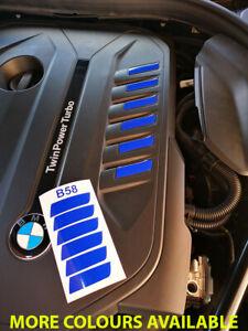 BMW M 140i , 240i , 340i , 540i, B58 ENGINE COVER VINYL DECALS