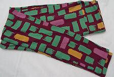Women's LuLaRoe OS One Size Leggings Dark Wine Green Mustard Mauve NEW