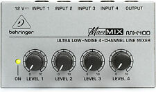 BEHRINGER MICROMIX MX400 MicroMIX MX400 4 Channel Mini Mixer NEW! FAST SHIP!