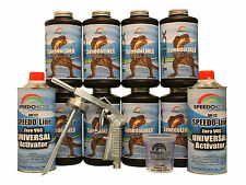 T-Rex Black spray-on truck Bed Liner, SMR-1000-K8 Truck Bedliner kit w/Free Gun