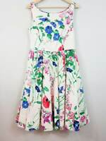 [ MONSOON ] Womens Floral Garden Party Dress NEW $245 | UK 14 or EUR 42 / US 10