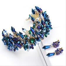 Gorgeous Baroque Crystals Beads Wedding Bridal Crown Tiara Bridal Hair Headpiece