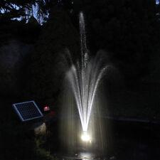 Solarpumpe Solar Teichpumpe Pumpe mit Akku LED Solarteichpumpe Springbrunnen