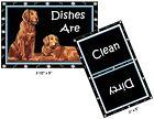 DOG DISHWASHER MAGNET (Golden Retriever) - Clean/Dirty *Ship FREE
