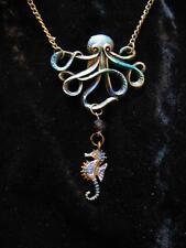 Cthulha Octopus Necklace Antique Bronze Nautical Steampunk Kraken Pirate Gothic
