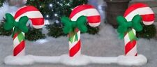 """5.6"""" CHRISTMAS LED CANDY CANE SNOW PATH AIRBLOWN INFLATABLE LIGHTED YARD DECOR"""