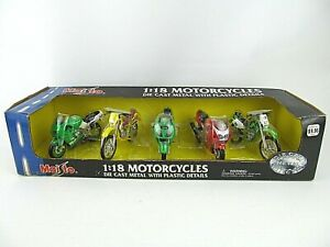 Kawasaki Motorcycles 5 pack MAISTO 1:18 Die Cast  Collection #32037