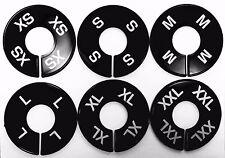 Clothing Black Size Dividers White Print Xs-Xxl (2 Pcs Per Size) 12 Pcs Total