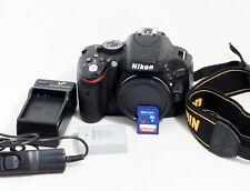 Nikon D D5100 16.2MP Digital SLR Camera Black Body Only LOW SHUTTER COUNT