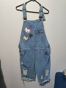Unisex Denim Overalls with patches