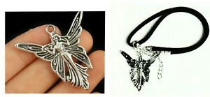 NECKLACE FAIRY ANGEL LEATHER ROPE NECKLACE LARGE 40mm x 40mm 🇦🇺AUSSIE SUPPLIER