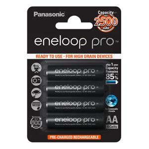kQ Panasonic eneloop PRO 4er Akku Set Mignon AA BK-3HCDE HR06 NiMh 1,2V 2500mAh