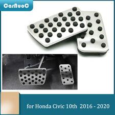 2Pcs For Honda Civic 10th 2016 -2020 Aluminum Alloy Brake Gas Pedal Cover Pad