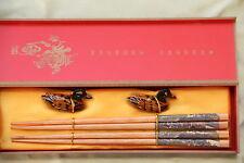 2 Baguettes Chinoises-Chopsticks-Kuai Zi-Junquillos-Stäbchen-bacchette-Qing ming